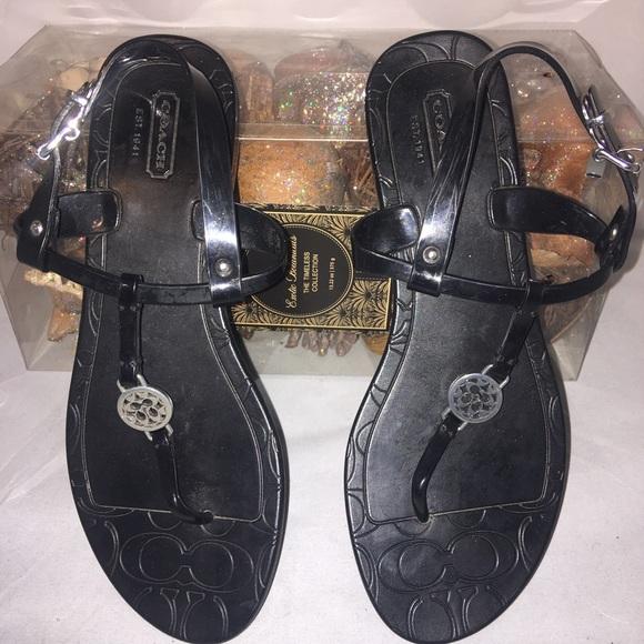 Coach Shoes - 🎃 Authentic Coach  monogram sandals